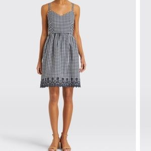 NWT Draper James Embroidered Gingham Dress